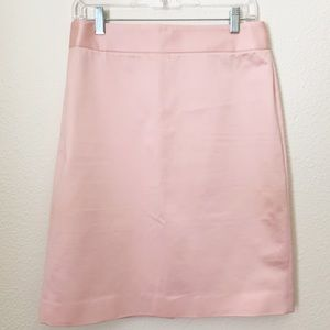 J. Crew | Pink Sateen Pencil Skirt
